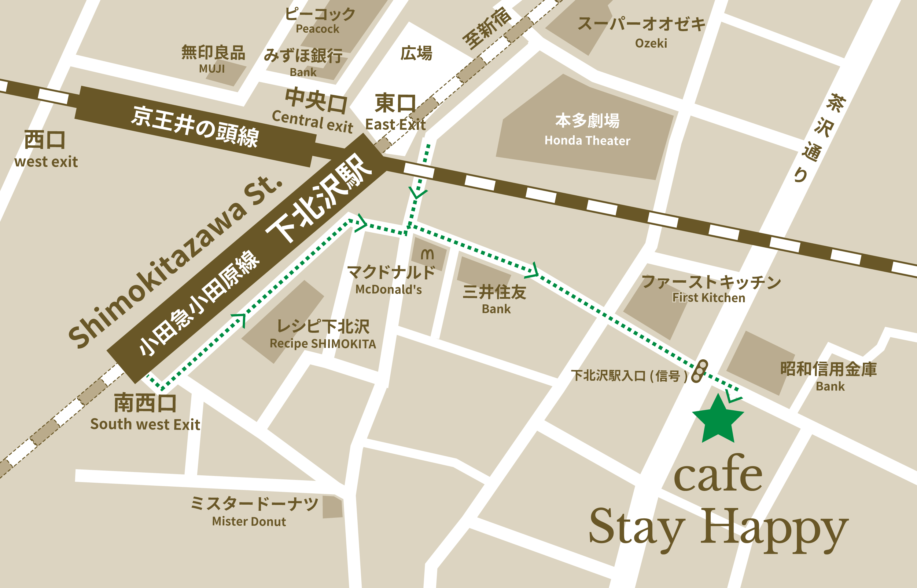 cafe stay happy access map